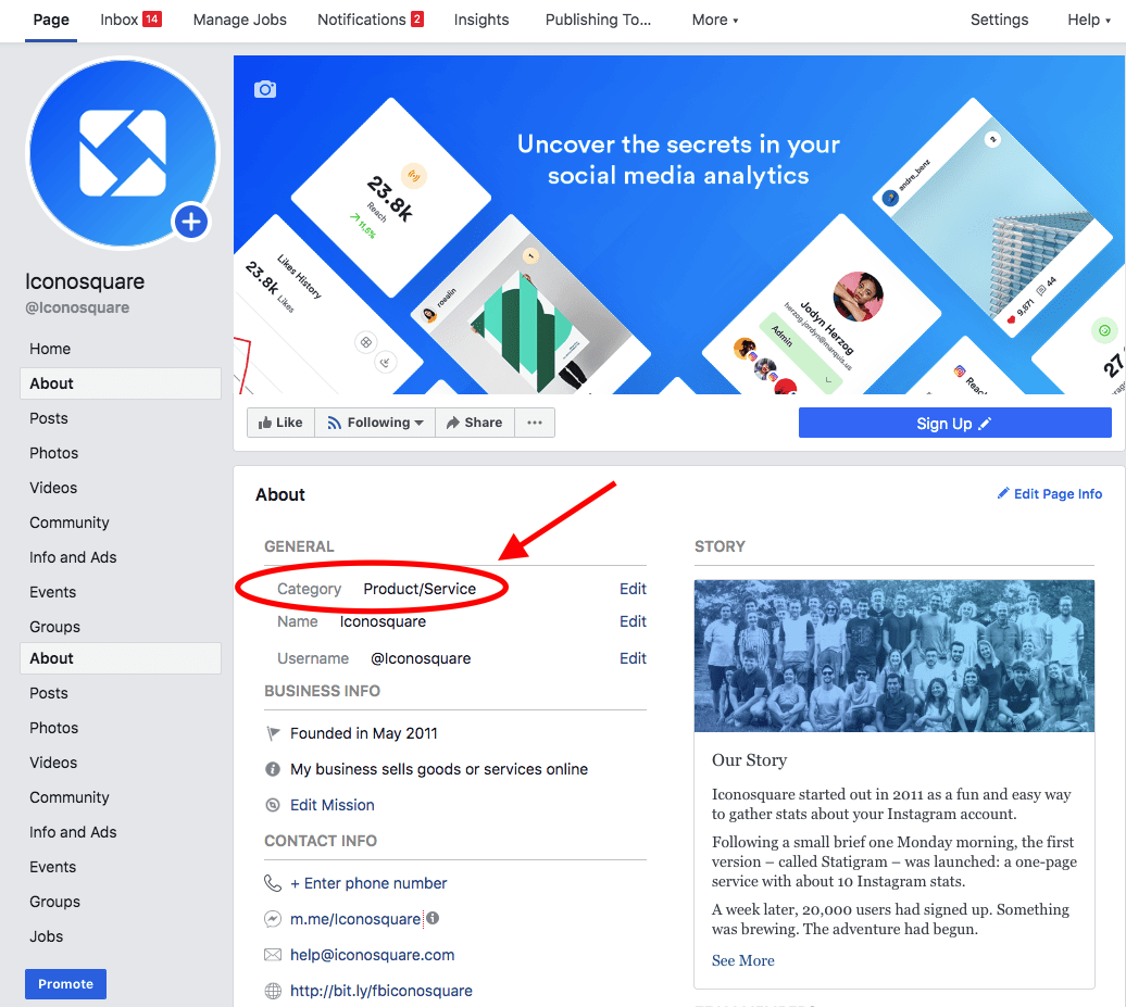 How to change your business category on Facebook